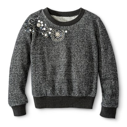 Miss Chievous Girls' Sequin Crew Sweatshirt
