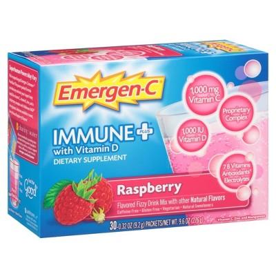 Emergen-C® Immune + D Raspberry flavored Vitamin C drink mix - 30 Count