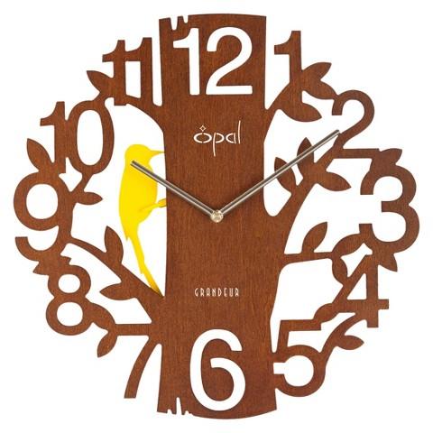 Opal Decorative Clock Designer Bird Shaped Pendulum - Multicolor