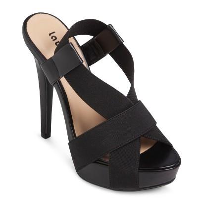 Women's Laundry List® Sophia Heeled Sandal - Black