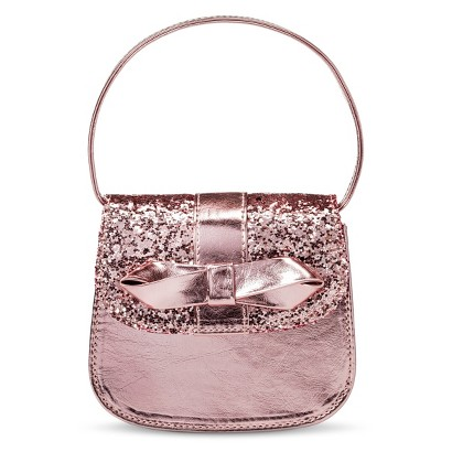 Infant Toddler Girls' Glitter Purse - Rose Gold product details page