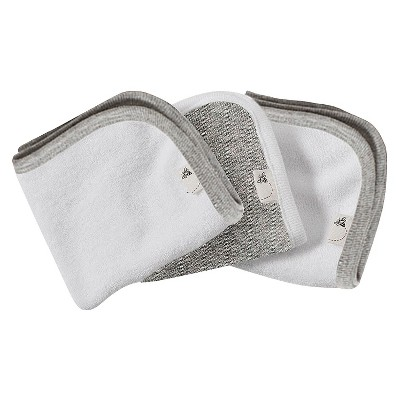 Burt's Bees Baby™ Organic 3 Pack Washcloth Set - Heather Grey