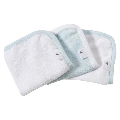 Burt's Bees Baby™ Organic 3 Pack Washcloth Set - Sky Blue/White