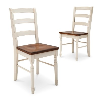 Mulberry Distressed Two Tone Dining Chair - Antique White (Set of 2)