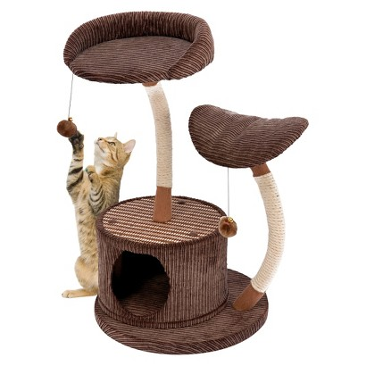 Cat-Life Two Level Lounge Activity Center with Retreat Hide-Away from