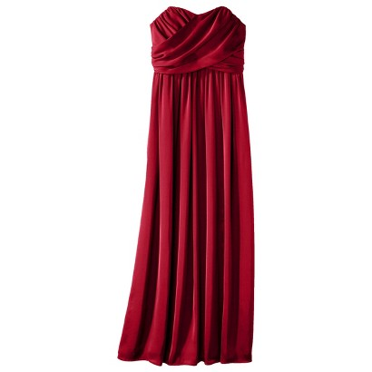 TEVOLIO™  Women's Satin Strapless Maxi Bridesmaid Dress - Limited Availability Colors