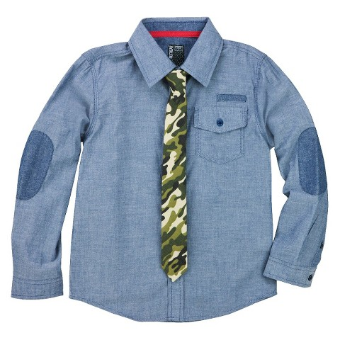 Boys' Button Down Shirt w/ Tie