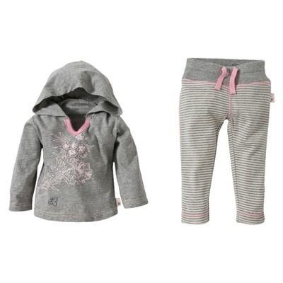 Burts Bees Baby™ Newborn Girls' Hoodie and Pant Set - Heather Grey 18 M