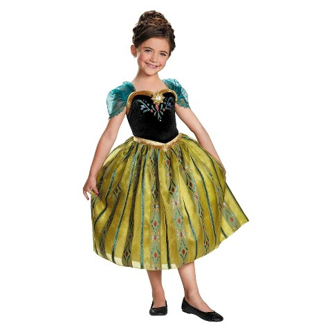 Girl's Frozen - Anna Coronation Deluxe  Gown