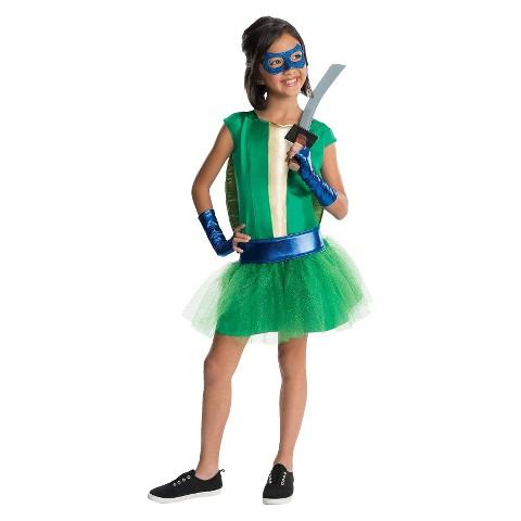 Girl's TMNT - Deluxe Leonardo Girl Tutu Kids Costume