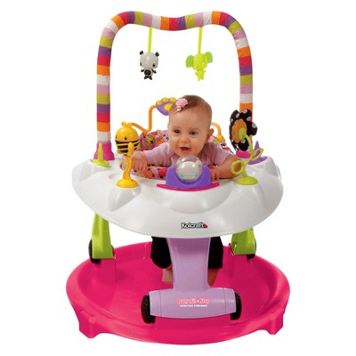 Kolcraft Baby Sit & Step 2-1 Activity Center - Pink