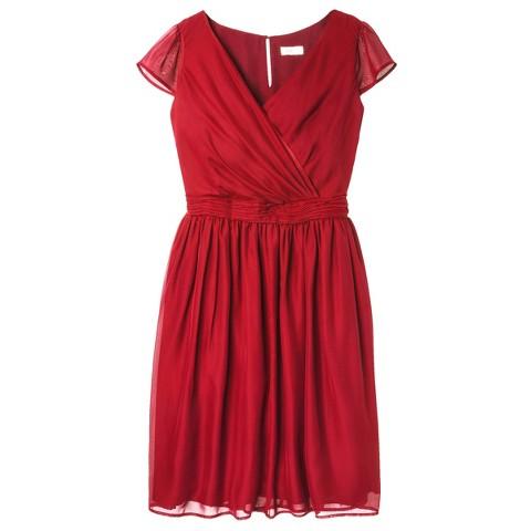 Women's Chiffon Cap Sleeve V-Neck Bridesmaid Bridesmaid Dress  Limited Availability Colors - TEVOLIO&#153