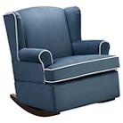 Eddie Bauer® Wingback Upholstered Rocker - Slate Blue