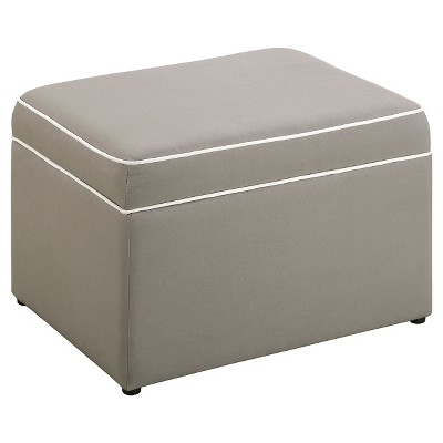 Eddie Bauer® Storage Ottoman - Light Cocoa
