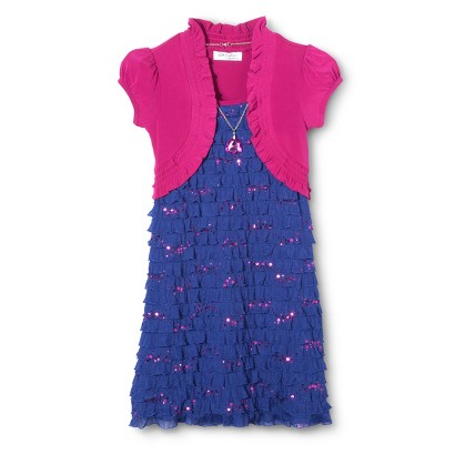 Lots of Love Girls' Mock Shrug Dress