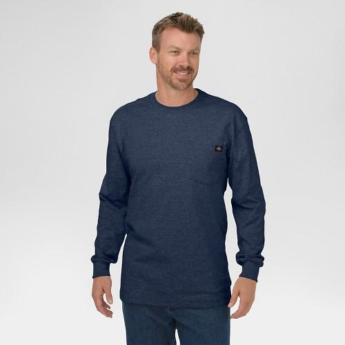 Dickies men 39 s big tall cotton heavyweight long sleeve for Mens long sleeve t shirts tall