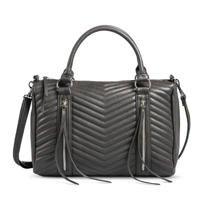 Mossimo® Quilted Satchel Handbag with Removable Strap - Gray