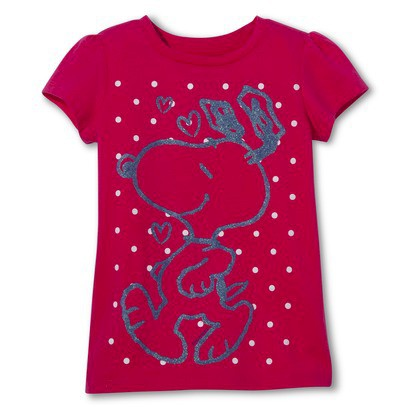 Snoopy Toddler Girls' Short Sleeve Tee