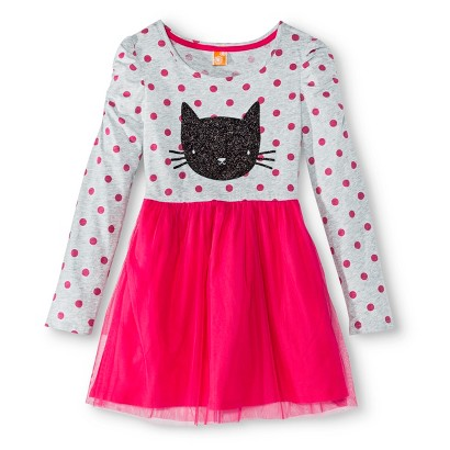 Image of Girls' Casual Halloween Dress - Heather XS