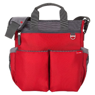Skip Hop Duo Signature Diaper Bag, Red