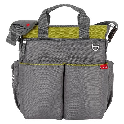 Skip Hop Duo Signature Diaper Bag, Charcoal & Lime