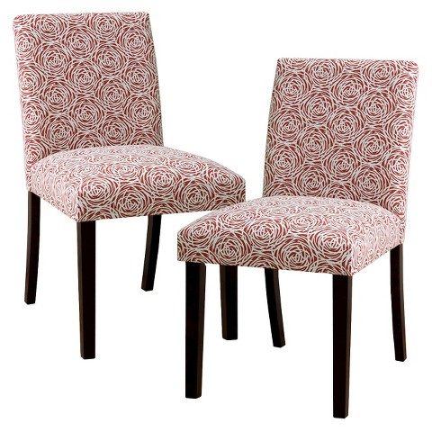 Uptown upholstered print dining chair set of 2 target for Printed upholstered dining chairs