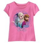 Disney® Frozen Infant Toddler Girls' Short Sleeve Anna and Elsa Tee