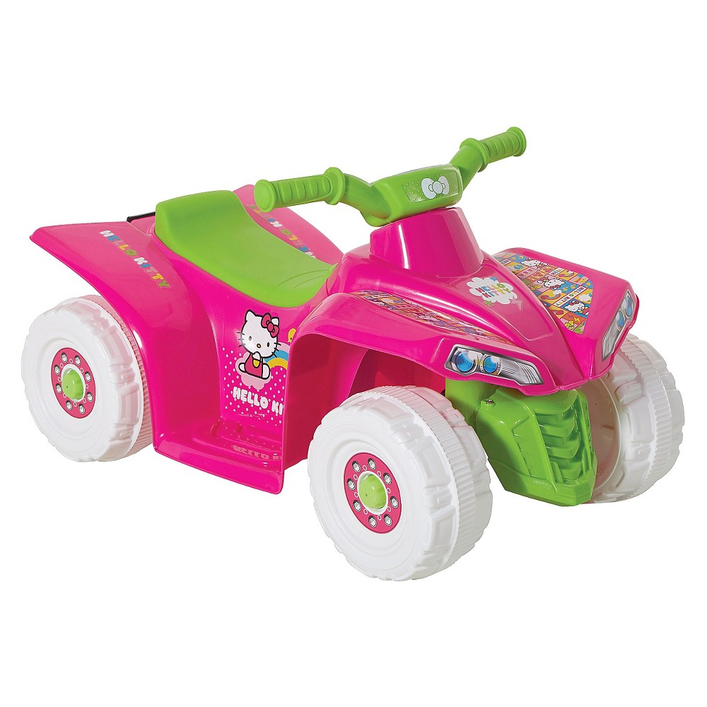 Hello Kitty Little Quad Battery Operated Riding Toy - Pink/ White/ Green (6 Volts)