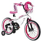 "Hello Kitty Girl's Bike - White/Pink (18"")"