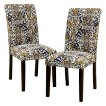 Avington Floral Mix Dining Chair - Desert (Set of 2)