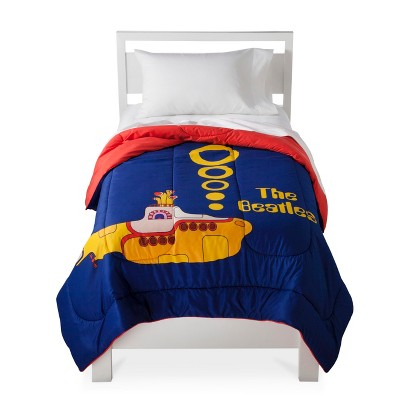 The Beatles: Yellow Submarine Comforter - Twin (Blue)