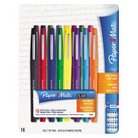 Paper Mate® Point Guard Flair Porous Point Stick Pen, Medium- Assorted Ink (16 per Pack)
