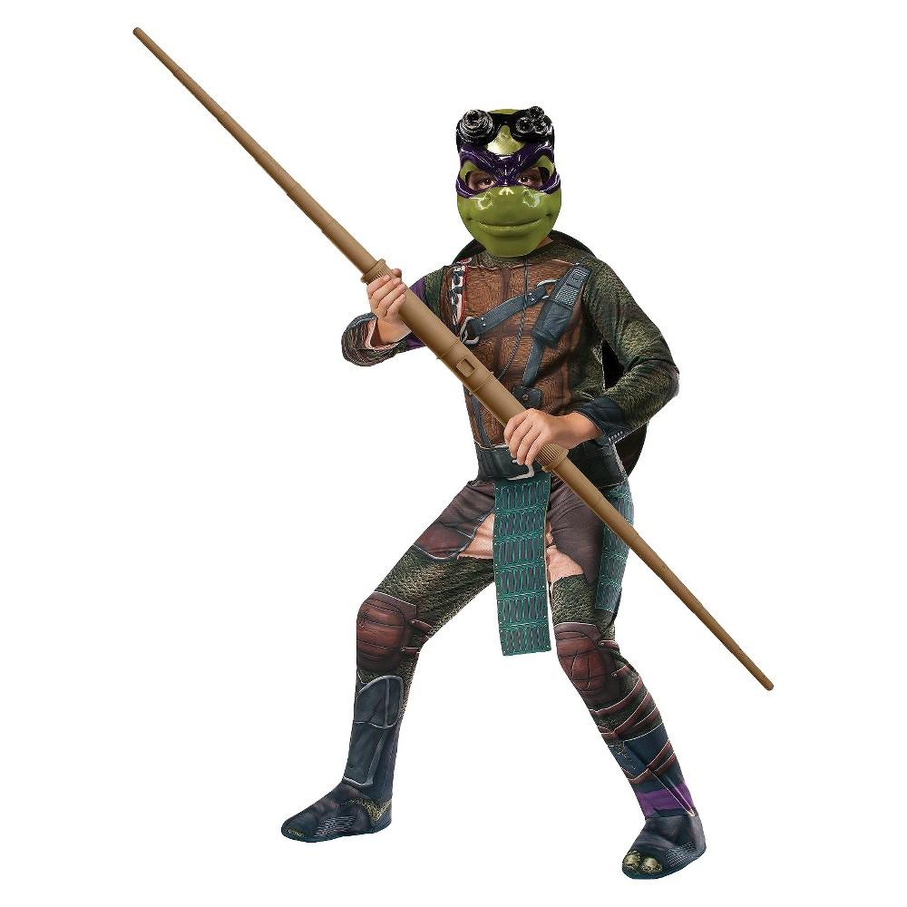 Teenage Mutant Ninja Turtles Movie Men's Donatello Costume Osfm, Green