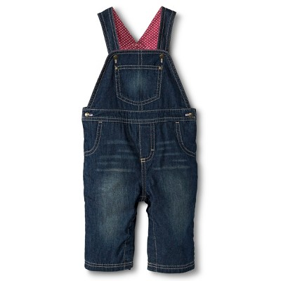 Genuine Kids from OshKosh Newborn Girls Overalls - Denim Blue 6-9 M