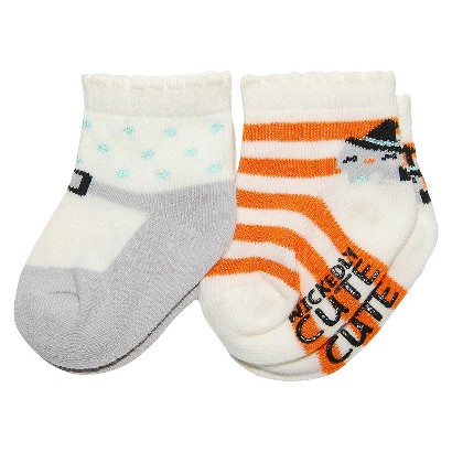 Image of Just One YouMade by Carter's Newborn Girls' 2 Pack Halloween Socks -