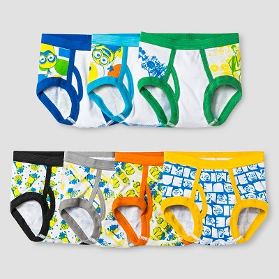 Toddler Boys' 7 Pack Despicable Me 2 Briefs 2T/3T