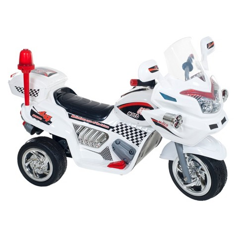 Lil' Rider™ Ride-on Police Connection Bike Trike Riding Toy - White (28.0 Lb)