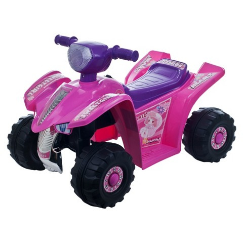 Lil' Rider™ Princess Mini Quad Ride-on Car Four Wheeler Riding Toy - Pink /Purple (14.1 Lb)