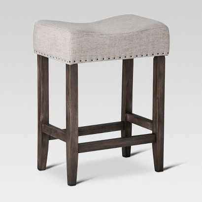 Counter Height Stools Target : Threshold? Saddle Counter Stool with Nailheads product details page