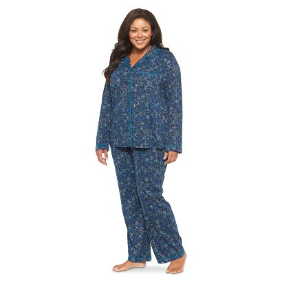 Women's Plus-Size Pajama Set Avalon Sea 1X - Gilligan & O'Malley