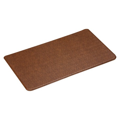 imprint comfort kitchen mat cobblestone series toffee 26x72