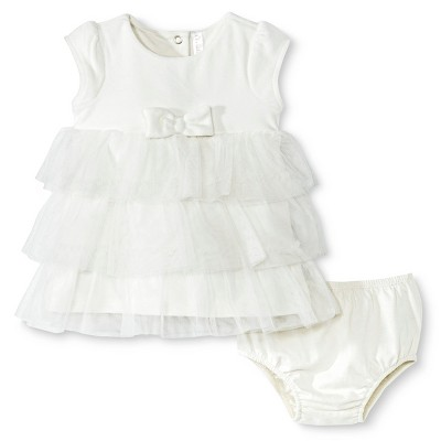 Cherokee® Newborn Girls Sun Dress - Almond Cream NB