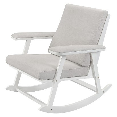 ecom cricket rocker in white w light grey cushion product details