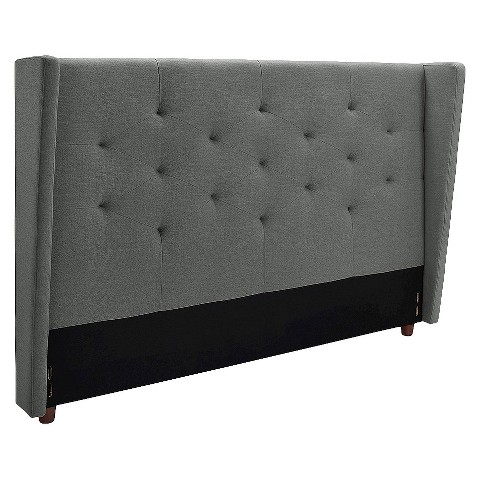 mid century modern wingback headboard target. Black Bedroom Furniture Sets. Home Design Ideas