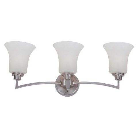 Vanity Light Bulbs Target : Yosemite 3-Light Vanity - Satin Nickel : Target