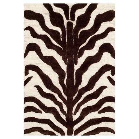 Safavieh Zebra Textured Wool Rug
