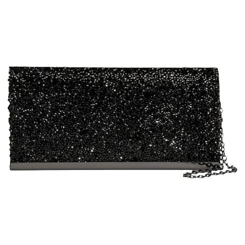 TEVOLIO™ Shimmer Stone Clutch - Black
