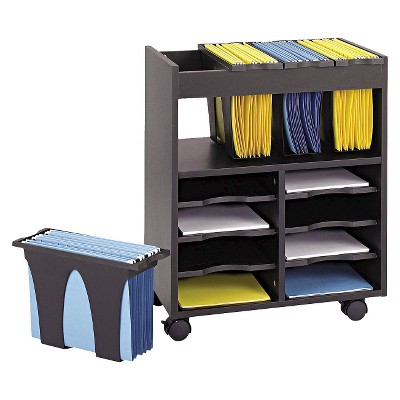 Safco® Go Carts Mobile Filing Cabinet - Black