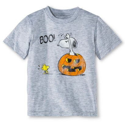 Image of Snoopy Infant Toddler Boys' Short Sleeve Halloween Tee - Heather Gray