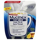 Mucinex Fast-Max Cold Flu & Sore Throat Relief Honey Lemon Flavor Powder - 8 Count